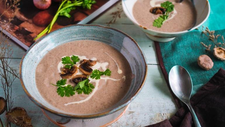 Cách nấu Súp Kem Nấm – Cream of Mushroom Soup