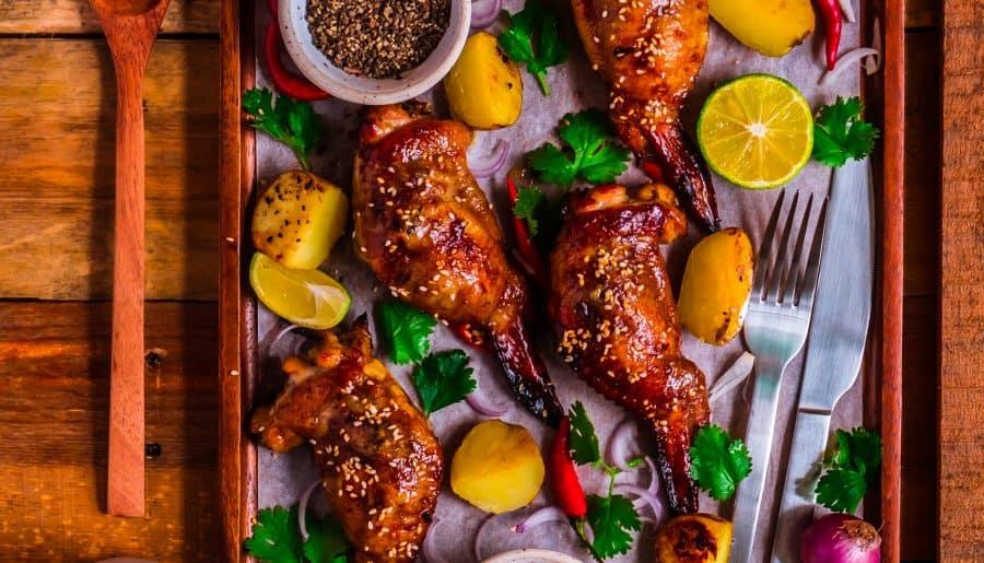 Cánh gà Nhồi Thịt Nướng sốt BBQ   Độc đáo, Ngon mà Không Ngán
